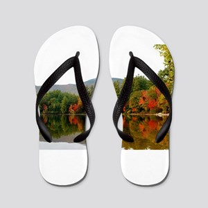 Fall In Love With Autumn In New England Flip Flops